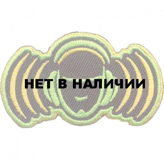 Термонаклейка -0174.2 Голова в наушниках без фона вышивка