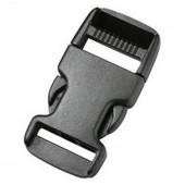 Пряжка фастекс 20 мм 1-05205/1-05206 (2 части) одна регулировка черный Duraflex