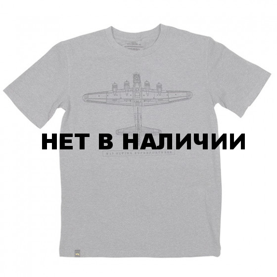 Футболка B17 Flying Superfortress Heather Gray Alpha Industries