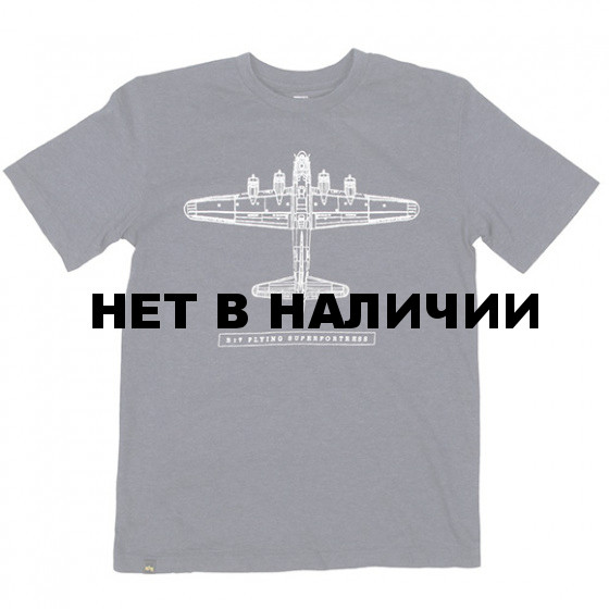 Футболка B17 Flying Superfortress Heather Navy Alpha Industries
