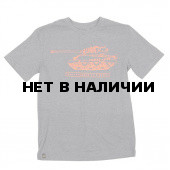 Футболка M4A2 Sherman Heather Gray/Orange Alpha Industries