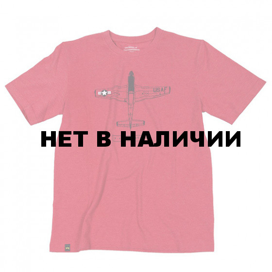 Футболка P-51B Mustang Heather Red Alpha Industries