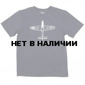 Футболка P-51B Mustang Heather Navy Alpha Industries