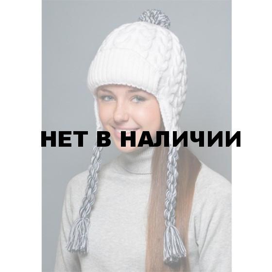 Шапка полушерстяная marhatter женская 4474 белый