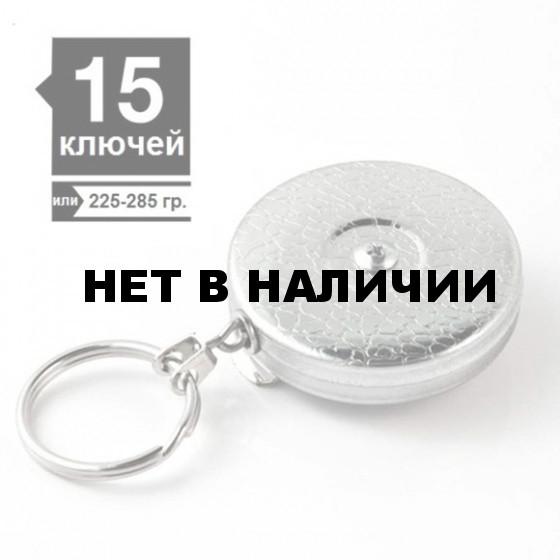 Ретрактор KEY-BAK #5 цепь 60см текстурный хром