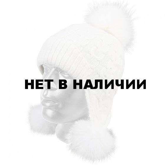 Шапка полушерстяная marhatter женская 4527 белая