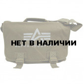 Сумка Alpha Industries Canvas Courier Bag olive green