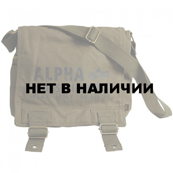 Сумка Alpha Industries Canvas Utility Bag olive green