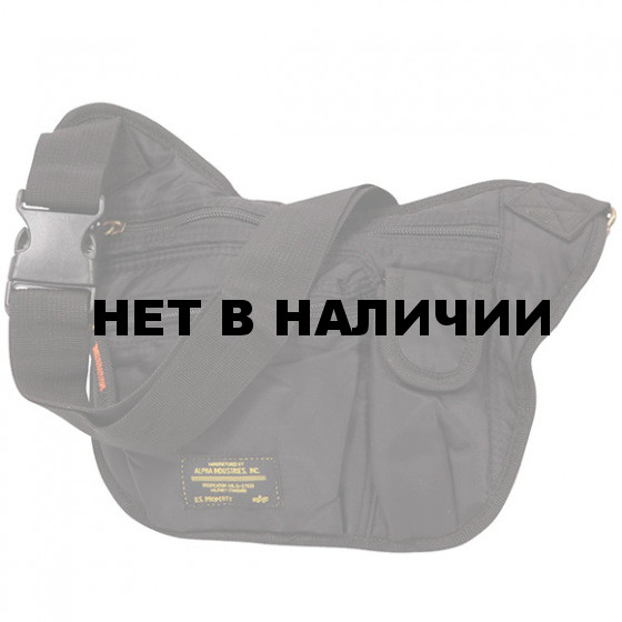 Сумка Alpha Industries Courier Bag black