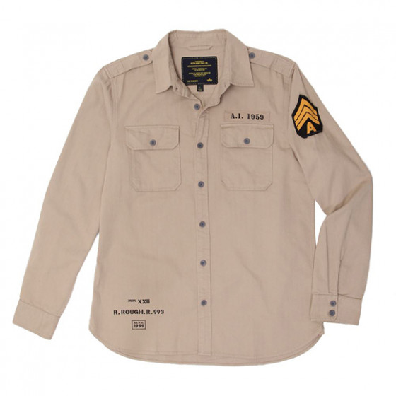 Рубашка Caliber Alpha Industries M-65 khaki