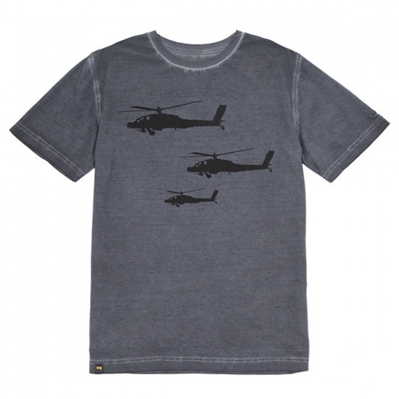 Футболка Helicopter Alpha Industries gray