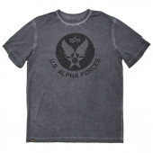 Футболка U.S. Alpha Forces (Black) Alpha Industries grey