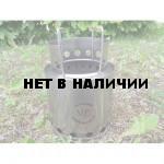 Печка-щепочница титановая ALB Bush Budy