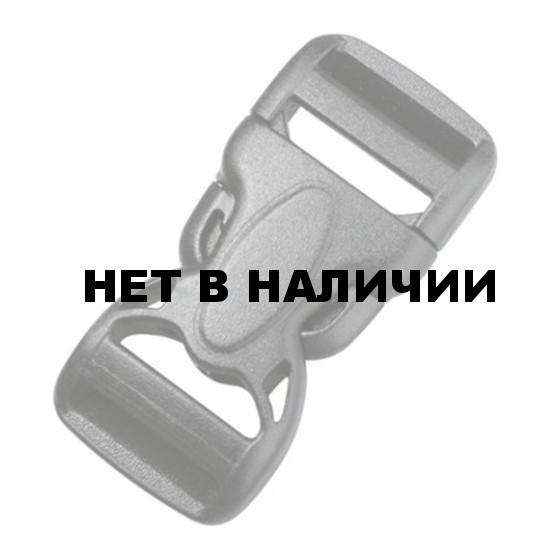 Пряжка фастекс 20 мм 1-17315/1-07604 (2 части) две регулировки черный Duraflex