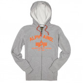 Толстовка Brooks Hoodie Alpha Industries heather gray