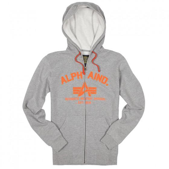 Толстовка Brooks Hoodie Alpha Industries heather gray