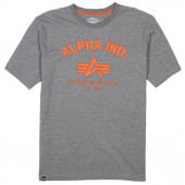 Футболка Authentic Military Apparel Alpha Industries heather gray