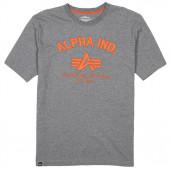 Футболка Authentic Military Apparel Alpha Industries heather gray