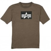 Футболка Logo Block Alpha Industries heather olive