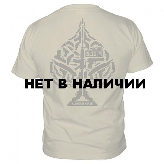 Футболка 5.11 Logo T S/S Ace Of Blades Tan