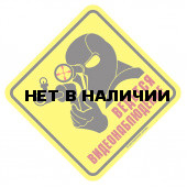 Наклейка Ведется ВИДЕОНАБЛЮДЕНИЕ 1 сувенирная