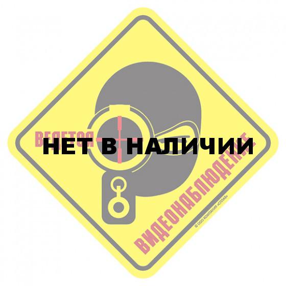 Наклейка Ведется ВИДЕОНАБЛЮДЕНИЕ 2 сувенирная