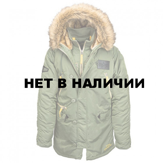 Куртка N-3B Inclement Parka Alpha Industries sage green