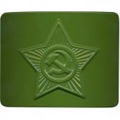 Пряжка на ремень СА зеленая металл