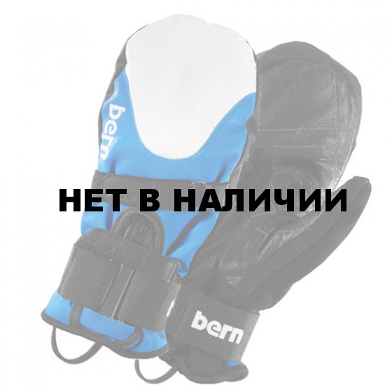 Варежки жен. Women`s Cyan/White Synthetic Mittens w/Removeable Wrist Guard
