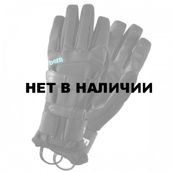 Перчатки жен. Women`s Black Synthetic Gloves w/Removeable Wrist