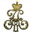 Нагрудный знак Вензель Александр II металл
