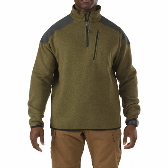 Толстовка 5.11 Tactical 1/4 Zip Sweater field green