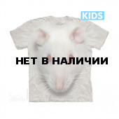Футболка детская The Mountain Big Face White Rat Kids