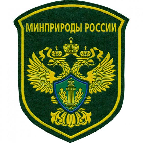 Нашивка на рукав Минприроды России пластик