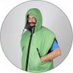Спальный мешок Aksakal 233 Primaloft зеленый 220x80x62