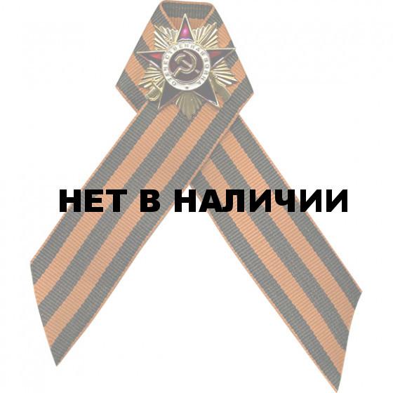 Нагрудный знак Орден ВОВ на Георгиевской ленте металл