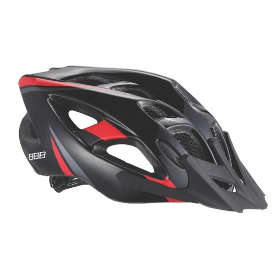 Летний шлем BBB Elbrus with visor matt black/red (BHE-34)