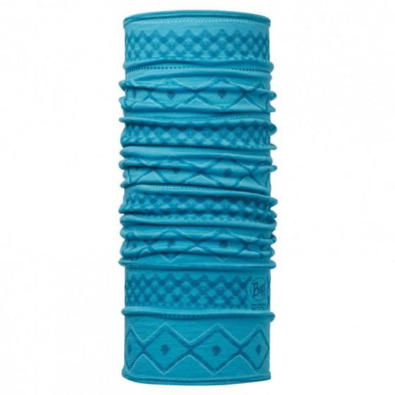 Шарф BUFF 2016-17 Wool BUFF Patterned & Dyed Stripes MERINO WOOL BUFF RHODA BLUE CAPRI