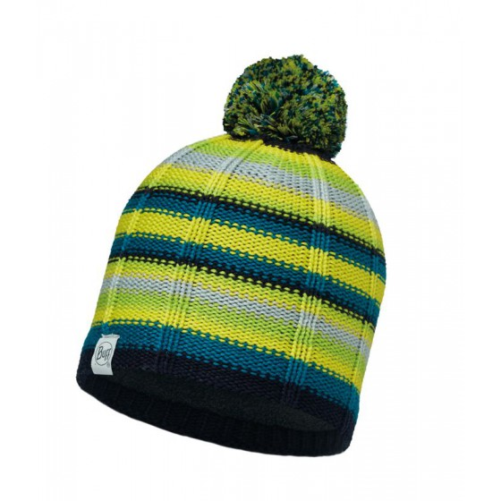Шапка BUFF 2016-17 CHILD KNITTED & POLAR HAT BUFF® LAD LIME-LIME-Standard