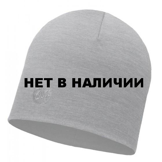 Шапка BUFF 2016-17 MERINO WOOL THERMAL HAT BUFF®SOLID GREY-GREY-Standard