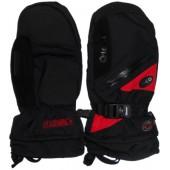 Варежки GLANCE Fighter Mitten (black/red) черный/красный