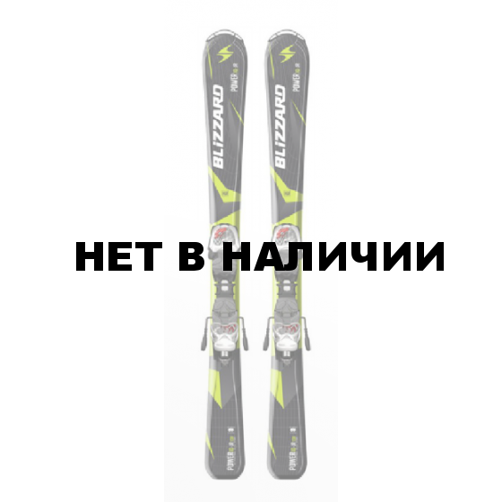 Горные лыжи с креплениями Blizzard 2015-16 POWER IQ JR+IQ-7 (130-150) BLACK-GREEN-WHITE