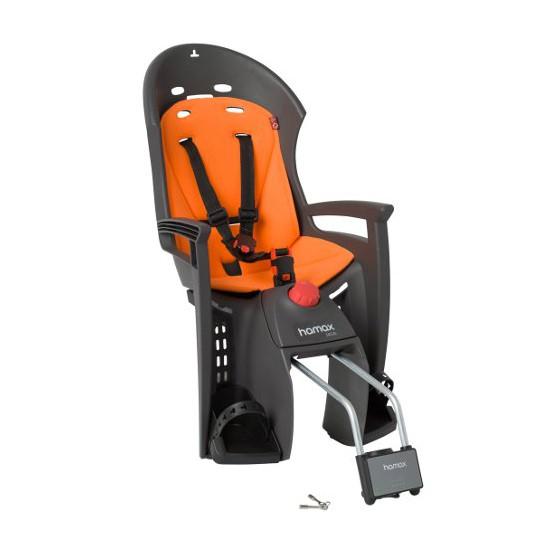 Детское кресло HAMAX SIESTA W/LOCKABLE BRACKET серый/оранжевый