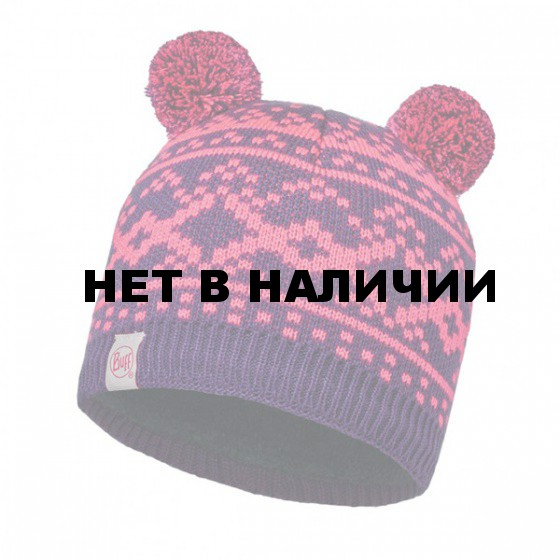 Шапка BUFF 2016-17 KNITTED KIDS COLLECTION CHILD KNITTED & POLAR HAT BUFF NOVY PLUM