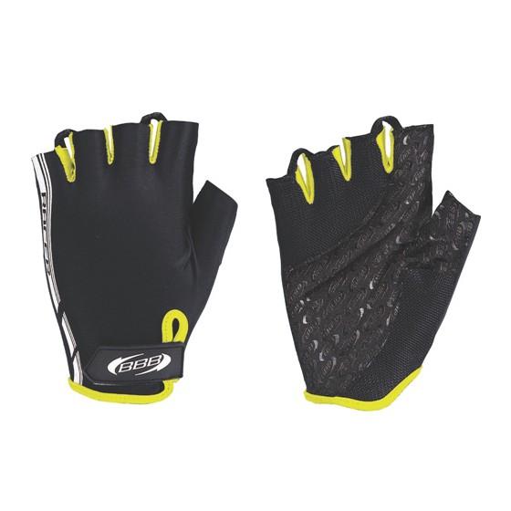 Перчатки велосипедные BBB Racer black neon yellow (BBW-37)