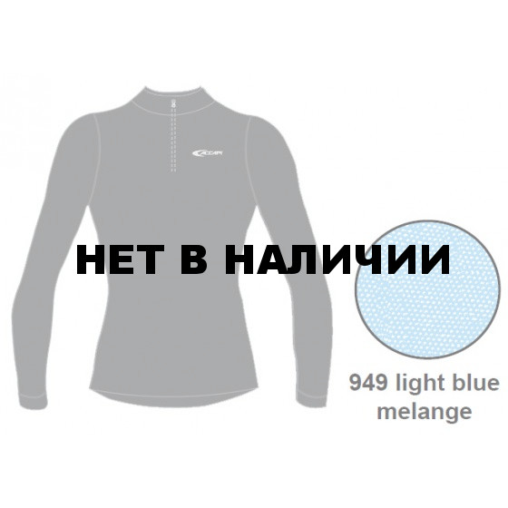 Футболка с длинным рукавом ACCAPI TECNOSOFT PLUS LONG SL.T-SHIRT 1/2 ZIP LADY (light blue mel) синий