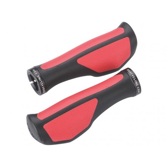 Грипсы BBB 2015 grips ErgoFix 132mm black red (BHG-71)