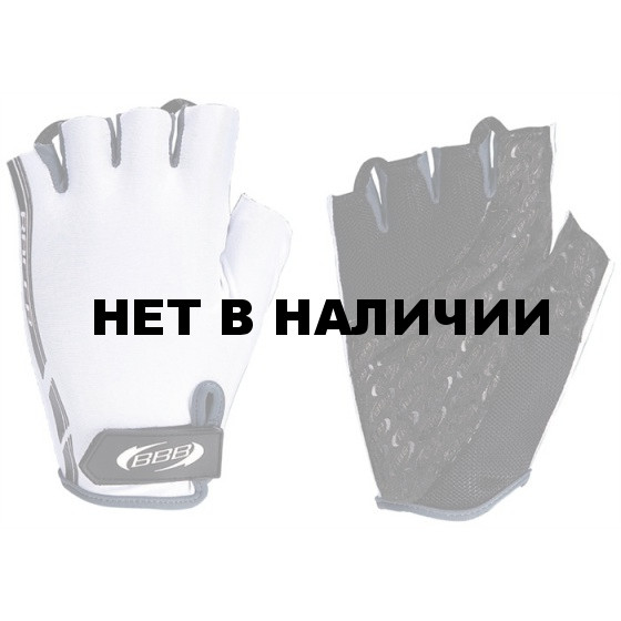 Перчатки велосипедные BBB Racer white grey (BBW-37)