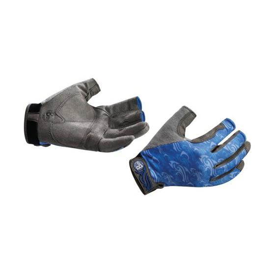 Перчатки рыболовные BUFF Pro Series Fighting Work Gloves Skoolin Azul (синий)
