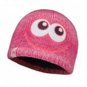 Шапка BUFF 2016-17 KNITTED KIDS COLLECTION CHILD KNITTED & POLAR HAT BUFF MONSTER MERRY PINK